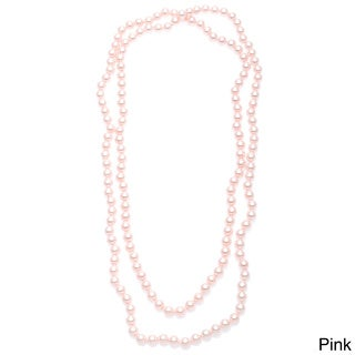 Alexa Starr Hand-knotted Endless Glass Pearl Necklace