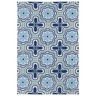 Luau Ivory Tile Indoor/ Outdoor Area Rug (8'6 x 11'6)