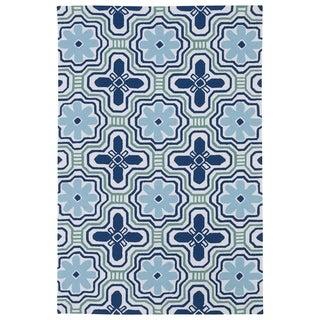 Luau Ivory Tile Indoor/ Outdoor Area Rug (8'6 x 11'6)