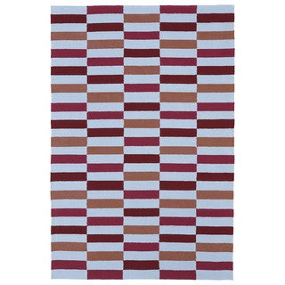 Indoor/ Outdoor Luau Multicolored Stripes Rug (8'6 x 11'6)