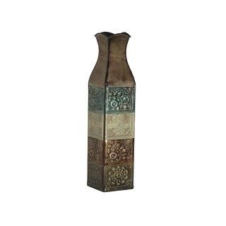 Elements 17-inch EMB Metal Suzani Tile Vase