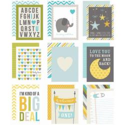 Baby Boy Sn@p! Double-Sided Card Pack 3 X4 48/Pkg -