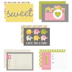 Baby Girl Sn@p! Double-Sided Card Pack 4 X6 24/Pkg -