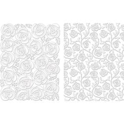 Spellbinders M-Bossabilities A2 Card Embossing Folder - Cabbage Rose