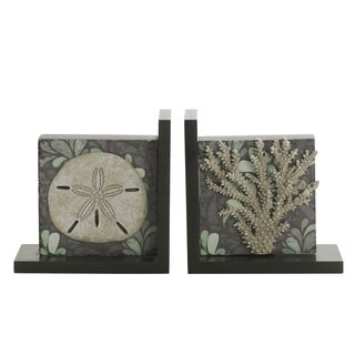 Elements Sealife Starfish/ Coral 2-piece Bookend Set