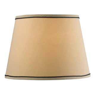 Design Match 15-inch Taupe Tapered Drum Shade