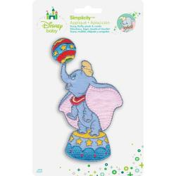 Disney Dumbo With Ball Iron-On Applique -