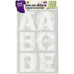 Soft Flex Iron-On Letters 3 Distressed - White 5/Sheets