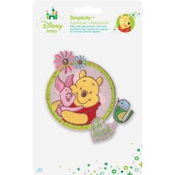 Disney Winnie The Pooh Piglet & Pooh Iron-On Applique -