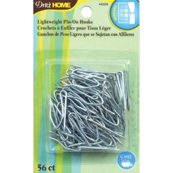Pin-On Drapery Hooks Lightweight 56/Pkg -