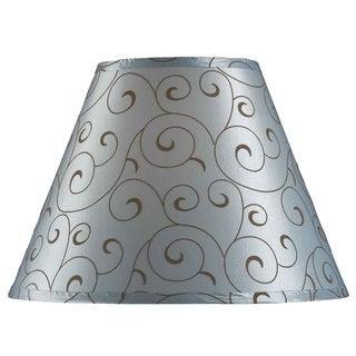 Design Match 15-inch Blue Velvet Flocked Lamp Shade
