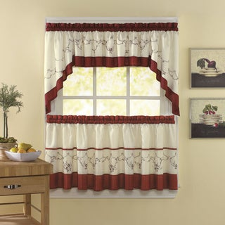Grace Cinnabar 5-piece Curtain Tier and Swag Set