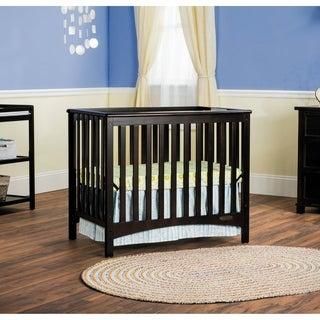 Child Craft London Jamocha Euro Mini 2-in-1 Convertible Crib with Mattress