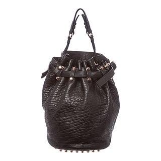 Alexander Wang 'Diego' Black Leather Bucket Bag