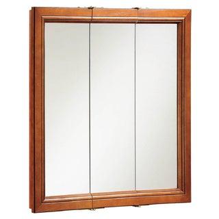 Design House 541391 Montclair 30-inch Chestnut Glaze Triple-door Medicine Cabinet Mirror