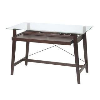 Tribeca 42-inch Espresso Glass-top Computer Desk