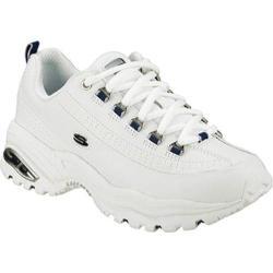 Women's Skechers Premium White/Navy