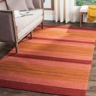Safavieh Hand-woven Marbella Rust Wool Rug (8' x 10')
