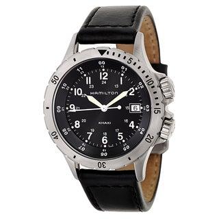 Hamilton Men's 'Khaki Field' Stainless Steel Military Time Watch