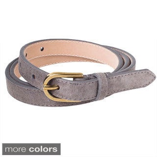 American Apparel Women's Skinny Suede Belt
