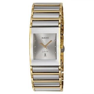 Rado Men's 'Integral Jubile' Yellow Gold PVD-coated Stainless Steel Swiss Quartz Watch