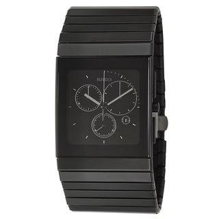 Rado Men's 'Ceramica Chronograph' Black Ceramic Chronograph Watch