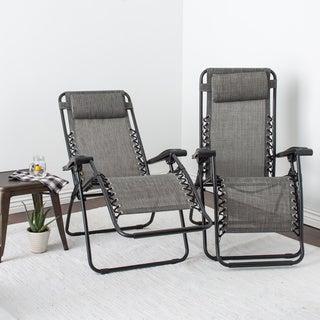 Caravan Canopy Grey Infinity Zero Gravity Chair (Pack of 2)
