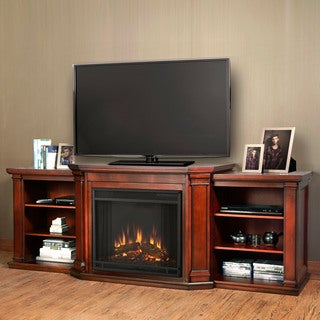 Valmont Electric Entertainment Dark Mahogany Fireplace