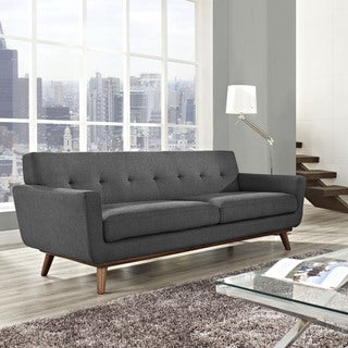 Engage 90.5-inch Cherry Wood Leg Sofa