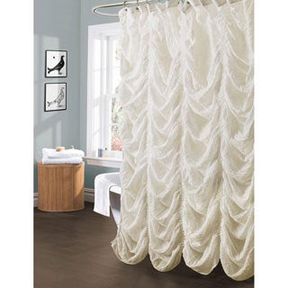 Lush Decor 'Madelynn' Ivory Shower Curtain