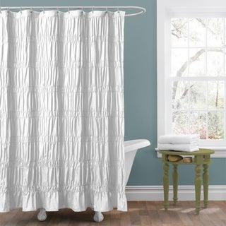Lush Decor 'Emily' White Shower Curtain