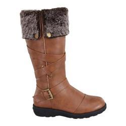 Women's Wild Diva Aura-47 Fur Boot Tan Faux Leather