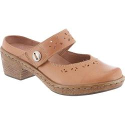 Women's Klogs Voyage Camel Bali Smooth Leather