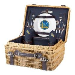 Picnic Time Champion Golden State Warriors Print Natural Wood/Navy/Slate