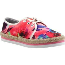 Women's Luichiny Easy Going Lace Up Pink Floral Fabric