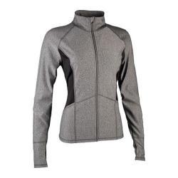 Women's Skechers Symmetry Zip Mock Performance Jacket Charcoal