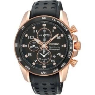 Seiko Men's SNAE80 Sportura Alarm Chronograph Watch