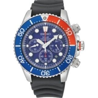 Seiko Men's SSC031 Solar Diver 200M Chronograph Watch
