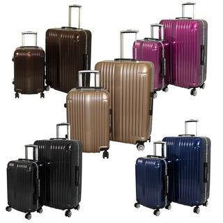 World Traveler Elite 2-piece Hardside Spinner Luggage Set - TSA Lock