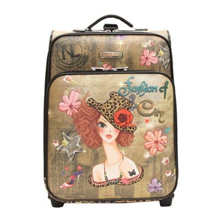 Nicole Lee Sunny Print 21-inch Expandable Rolling Carry-on