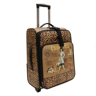 Nicole Lee Cosmetic Print 21-inch Expandable Rolling Carry-on