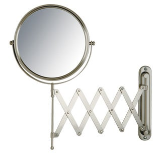 Jerdon 8-inch Two-Sided 7x Wall Mount Mirror in Nickel