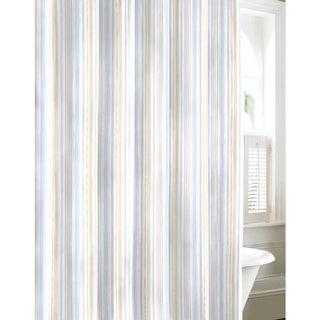 Laura Ashley Sommerset Neutral Cotton Shower Curtain