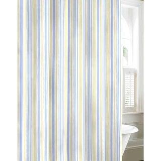 Laura Ashley Sommerset Blue Cotton Shower Curtain