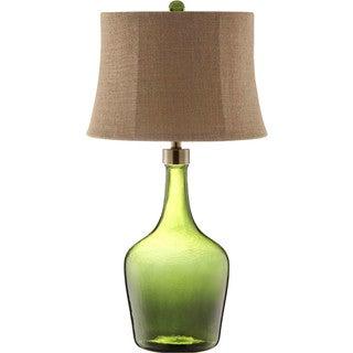Trent Glass 1-light Green Table Lamp