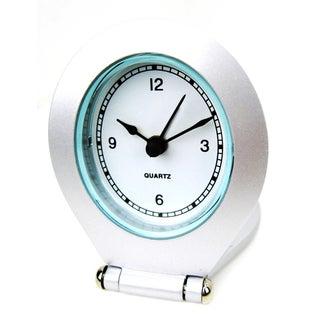 Silver Silk Alloy 2.5-inch Alarm Clock