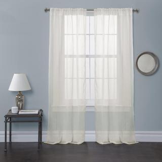 Lush Decor Ivory Bright Morning Sheer 84 inch Curtain Panel Pair