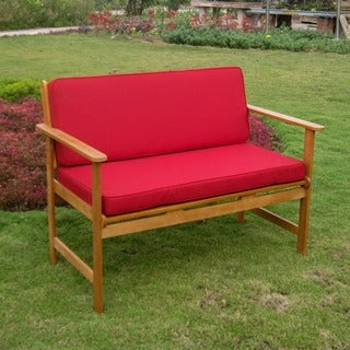 International Caravan Royal Tahiti Gulf Port Outdoor Settee/ Bench with Cushions