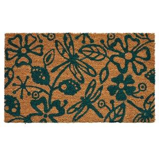 Dragonflies Coir with Vinyl Backing Doormat (1'5 x 2'5)