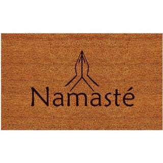 'Namaste' Coir/ Vinyl Weather-resistant Doormat (1'5 x 2'5)